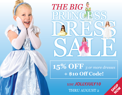 The Big Princess Dress Sale at Little Dress Up Shop