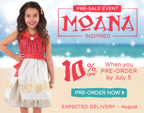 Pre-Order Moana Inspired Dress at Little Dress Up Shop