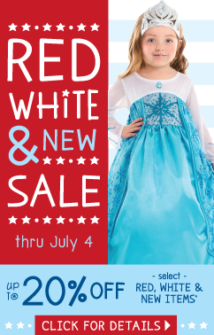 Red White and Blue Sale at Little Dress Up Shop
