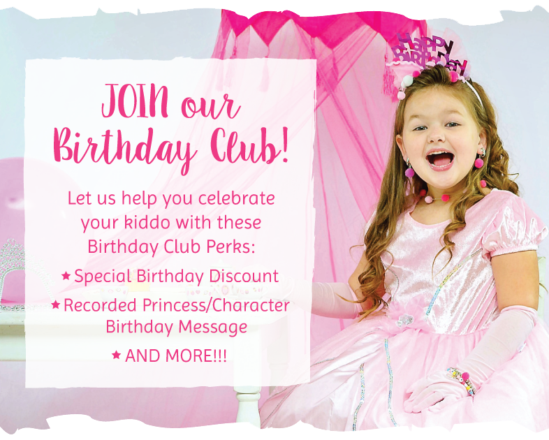 Little Dress Up Shop Birthday Club