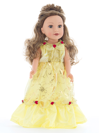 Yellow Beauty Doll Dress - Tank Sleeves Style
