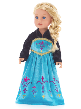 "Ice Queen ""Coronation Day"" Doll Dress"