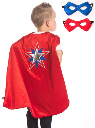 American Hero Cape with Reversible Mask