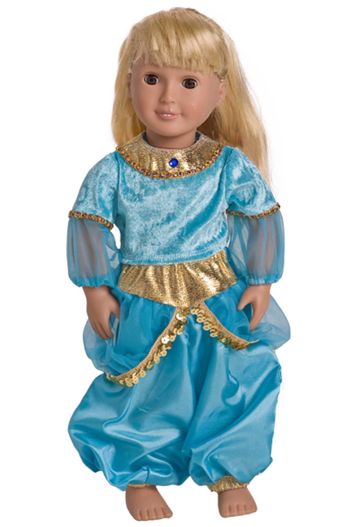 Arabian Princess Doll Costume. Zoom  sc 1 st  Little Dress Up Shop & Arabian Princess Jasmine Replica Dress for Dolls or Stuffed Animals