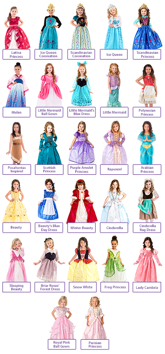 Create Your Own 3 Dress Princess Set