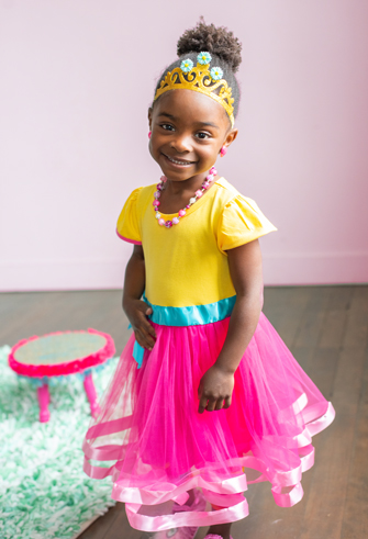 Fancy Nancy Inspired - Frilly Party Dress