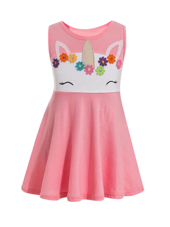 Pretty Pink Unicorn Dress