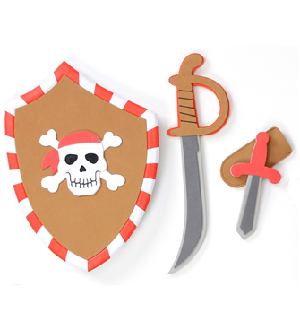 Pirate Sword, Shield and Secret Dagger