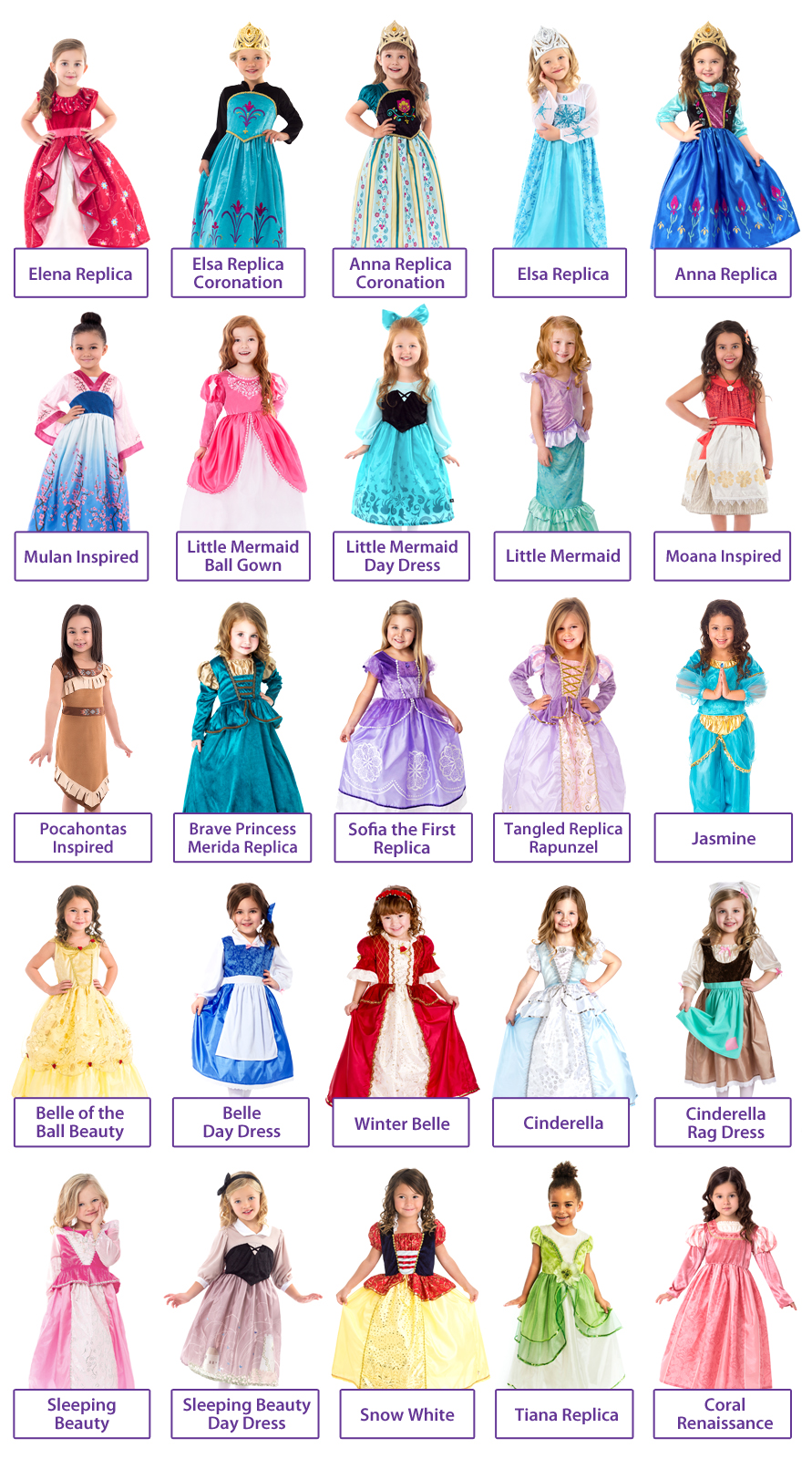 create your own 6 dress princess set 6 dress ups at a great discount
