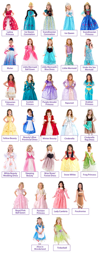 Create Your Own 4 Dress Princess Set