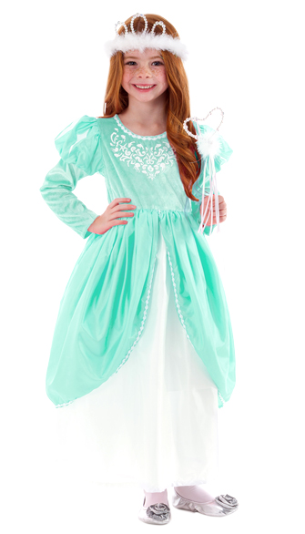 Little Mermaid's Seafoam Princess Dress