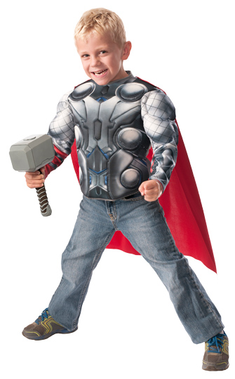 Thor Muscle Chest with Cape and Hammer