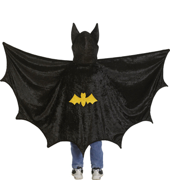 Kid's Bat Cape with Attached Hood