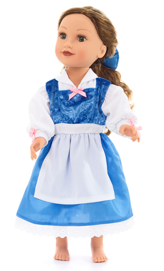 Belle's Blue Day Dress for Dolls