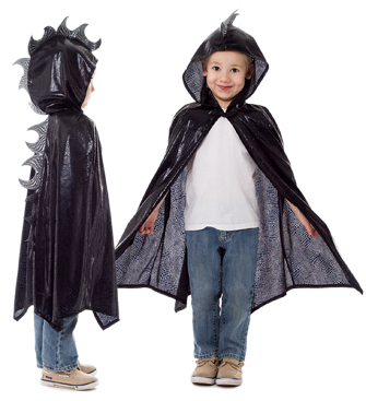 Black Scaley Dragon Cloak