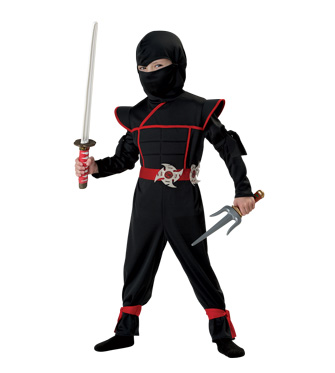 Black Ninja Costume for Kids