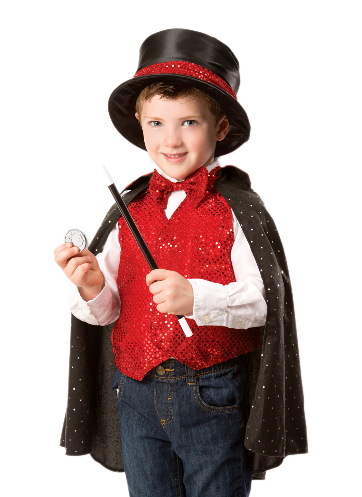 Childu0027s Magician Costume with Top Hat. Zoom  sc 1 st  Little Dress Up Shop & Boys or Girls Magician Costume with Top Hat