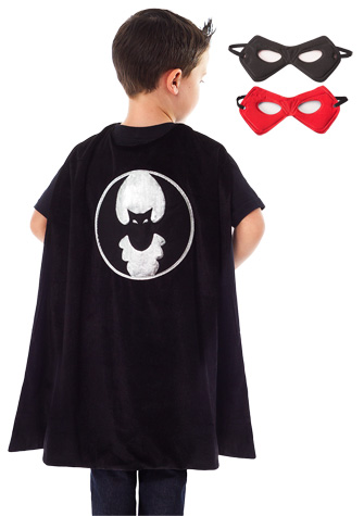 Boys Bat Cape and Mask Set