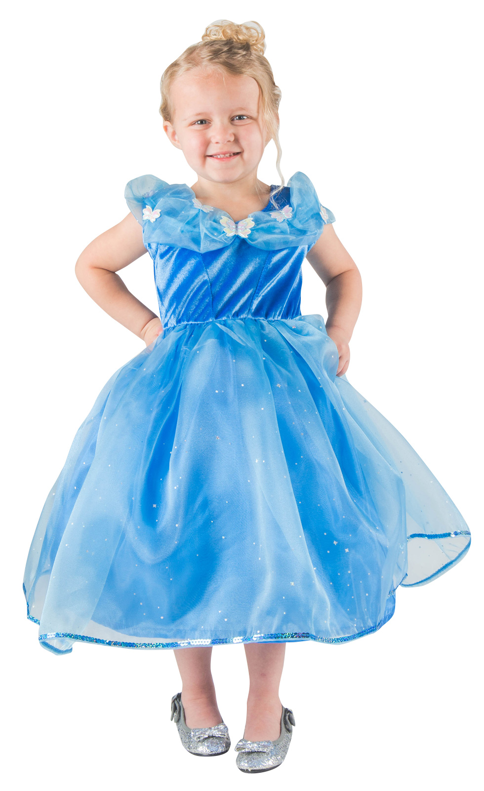 2ff25f539ee2 Toddler DELUXE Butterfly Cinderella Dress. Zoom