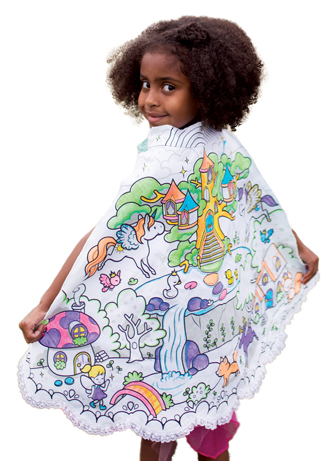 "Reversible Fairy and Unicorn ""Color a Cape"" with Markers"