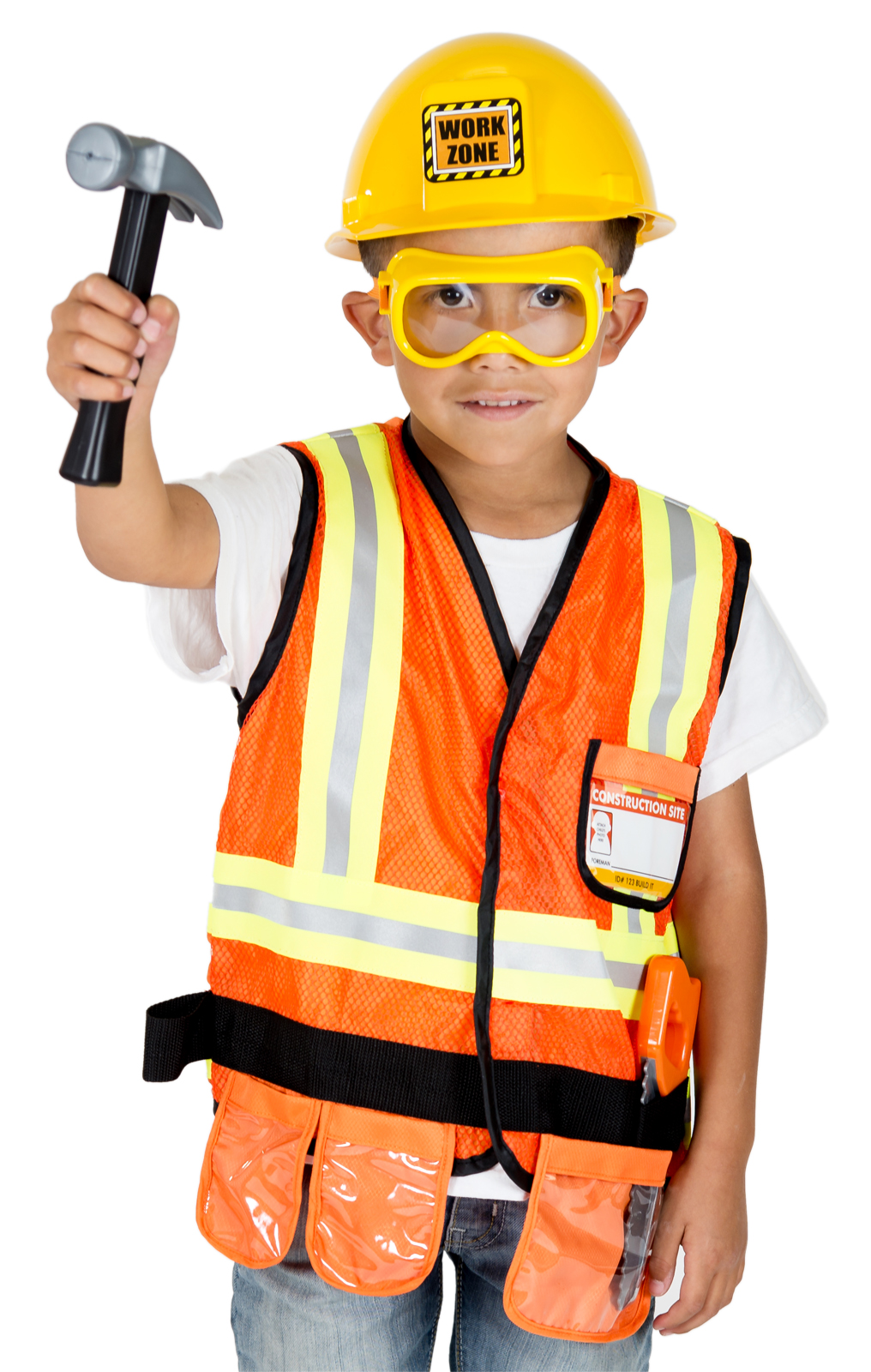 construction worker costume pretend play for boys and girls