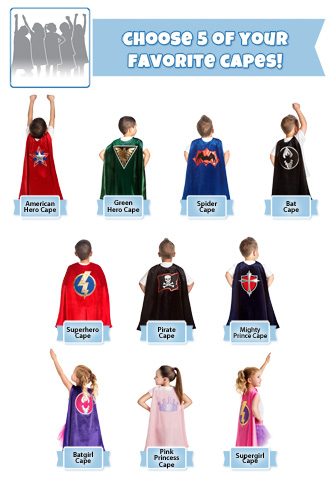 Create Your Own Five Cape Set
