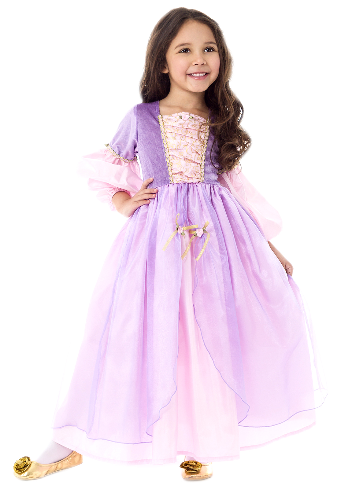 deluxe rapunzel dress up costume tangled inspired princess