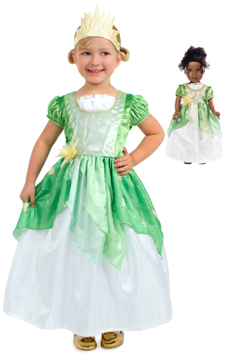 Frog Princess Child and Doll Dress Set