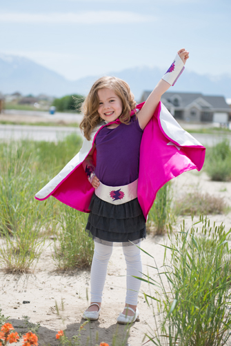 Reversible Supergirl Cape and Accessories