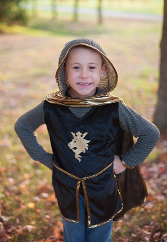 Deluxe GOLD Knight Tunic <BR>with Cape and Crown