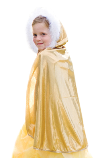 Gold Sparkle Princess Cloak