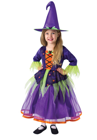 LIMITED EDITION: Deluxe Purple Witch Dress with Hat