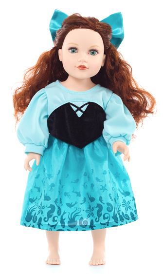 Little Mermaid's Blue Lagoon Doll Dress