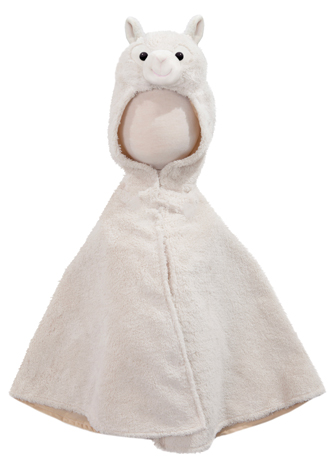 Toddler Llama Cape with Attached Hood
