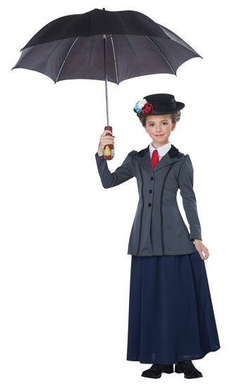 Child's Deluxe English Nanny Dress with Hat and Accessories