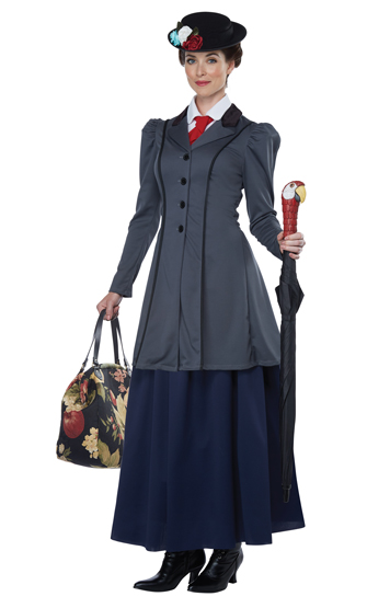 Women's English Nanny Dress with Hat and Accessories