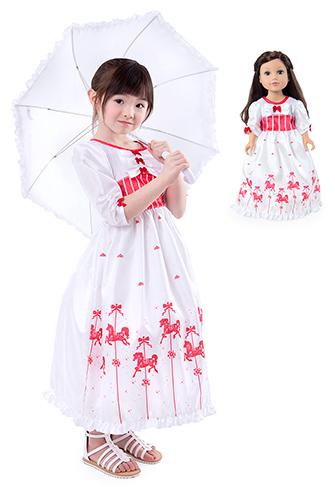 Practically Perfect Nanny Child and Doll Dress Set