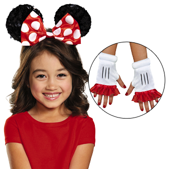 Minnie Mouse Ears and Glovelettes