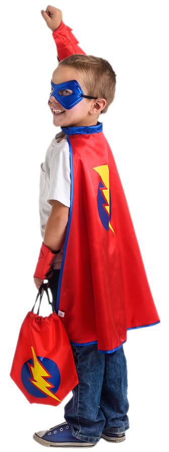 Red On-the-Go Superboy Backpack Dress Up Kit