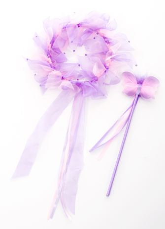 Purple Fairy Halo and Wand Set