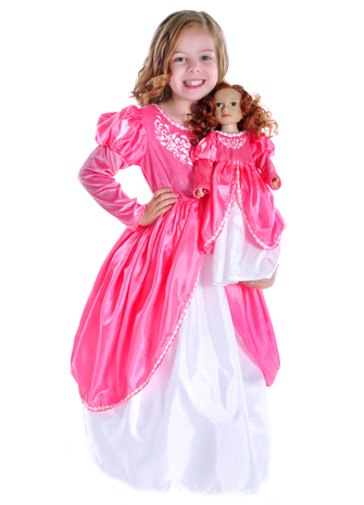 Ariel Ballgown Replica Child and Doll Costume Set