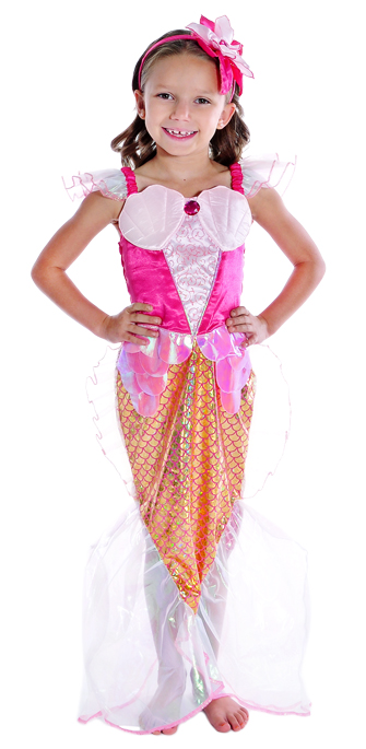 Pink Mermaid Dress Up Costume