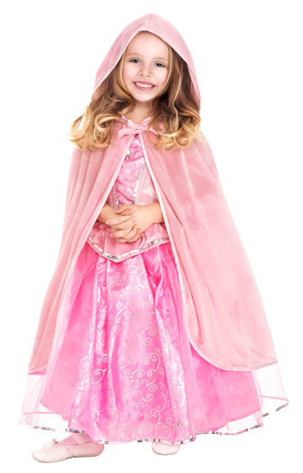 Pink Princess Cloak with Hood