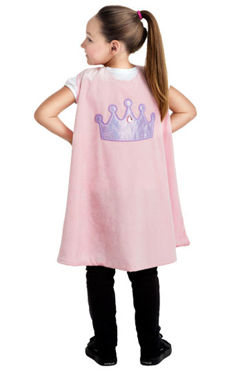 Pink Princess Crown Cape
