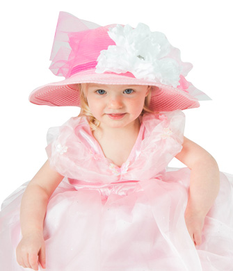 Pink Tulle Tea Party Hat