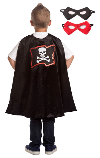 Boys Pirate Cape and Mask Set