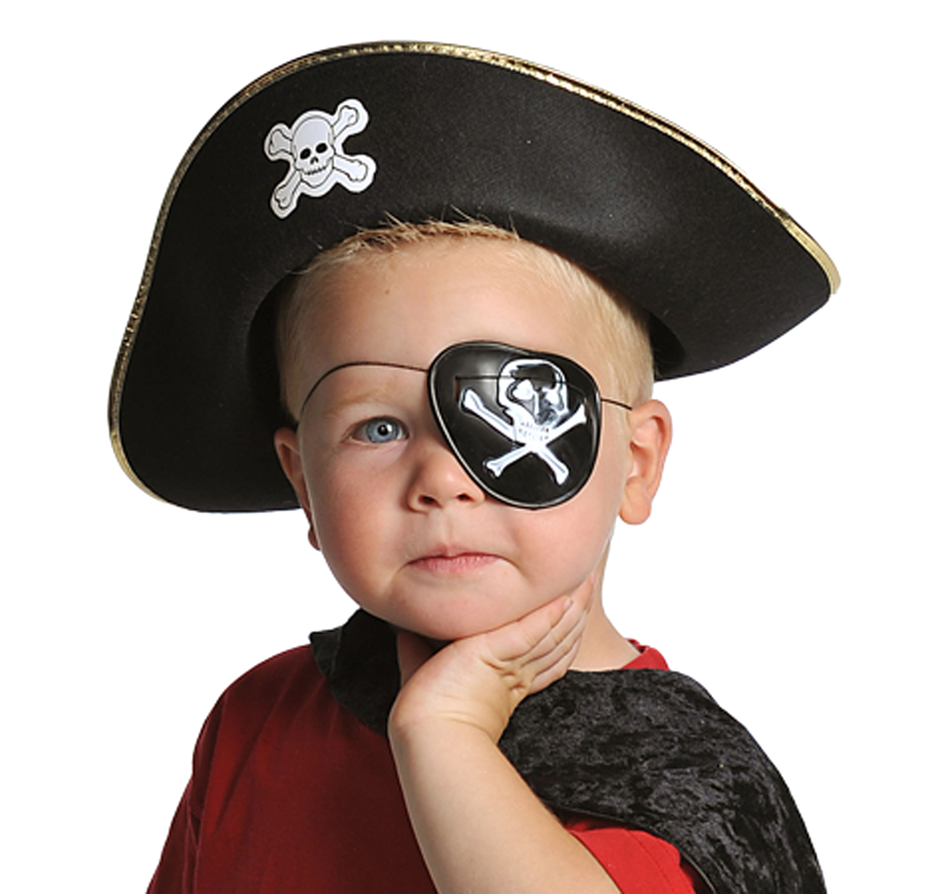 Pirate Hat And Eyepatch Accessory Set Zoom