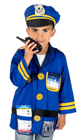 Boys or Girls Police Officer Costume for Pretend Play