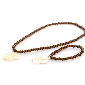 Polynesian Princess Necklace and Bracelet Set