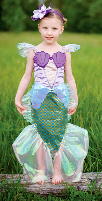 Purple and Teal Mermaid Dress Up Costume